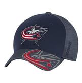 Reebok NHL Columbus Blue Jackets Stuctured FlexFit -lippis d546a7ec80