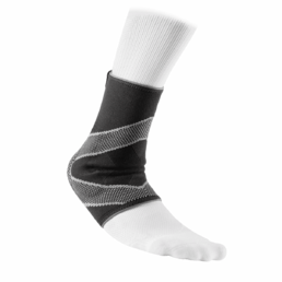 McDavid Ankle Support Sleeve Elastic With Gel Buttresses 5115R  -nilkkatuki geelituella, Musta